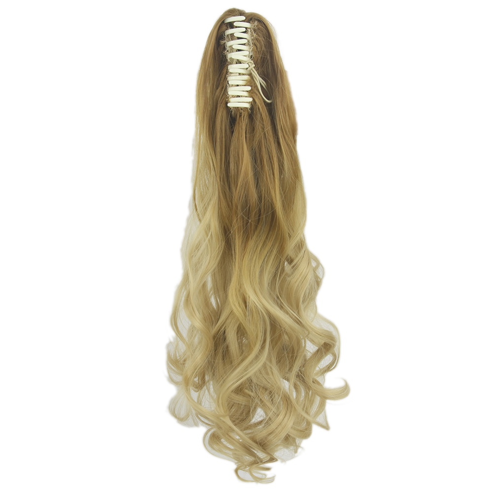 Soowee Curly Synthetic Hair Claw Ponytails Fairy Tail Clip In Hair Extension Hairpiece My Little Pony Tail Hair Overhead
