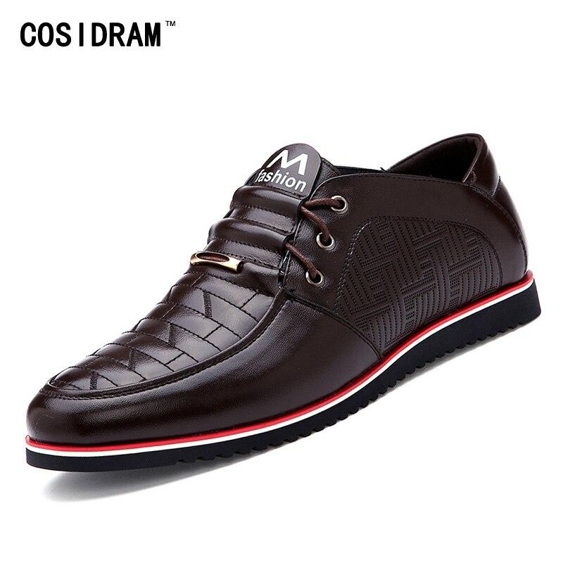 Nuevos  Hombres Zapatos de Cuero Genuino del Estilo Británico de Primavera/Otoño