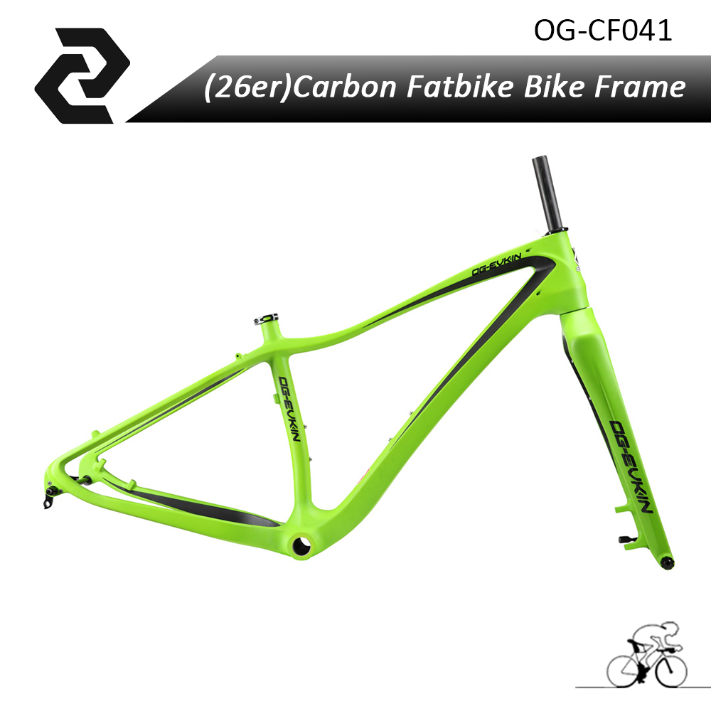 OG-EVKIN carbon fat bike frame rear spacing 197*12mm UD snow bike frame BB shell 120mm BSA 2016 new thru axle qr 26er fat bike full carbon snow frame bsa carbon fat bike frame for fat bike cc cmf 010