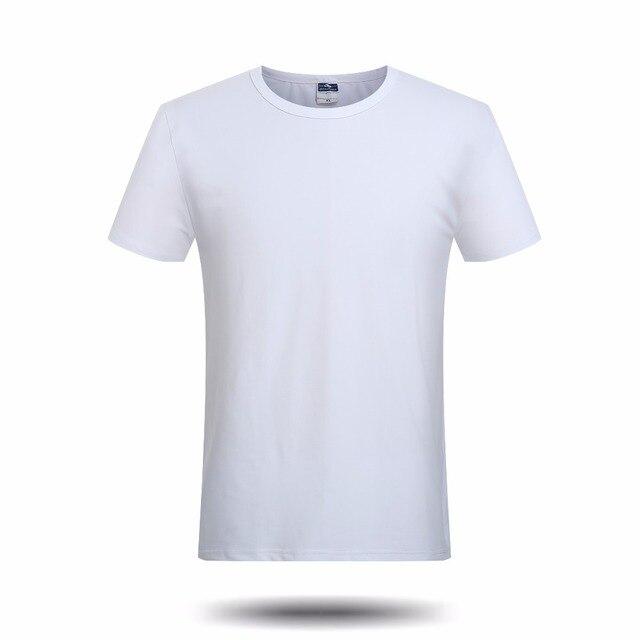 2cfdfba0c2b3 Фирменная Новинка однотонные белые пустой футболка Для мужчин Обувь для  мальчиков Повседневное Рубашки с короткими рукавами