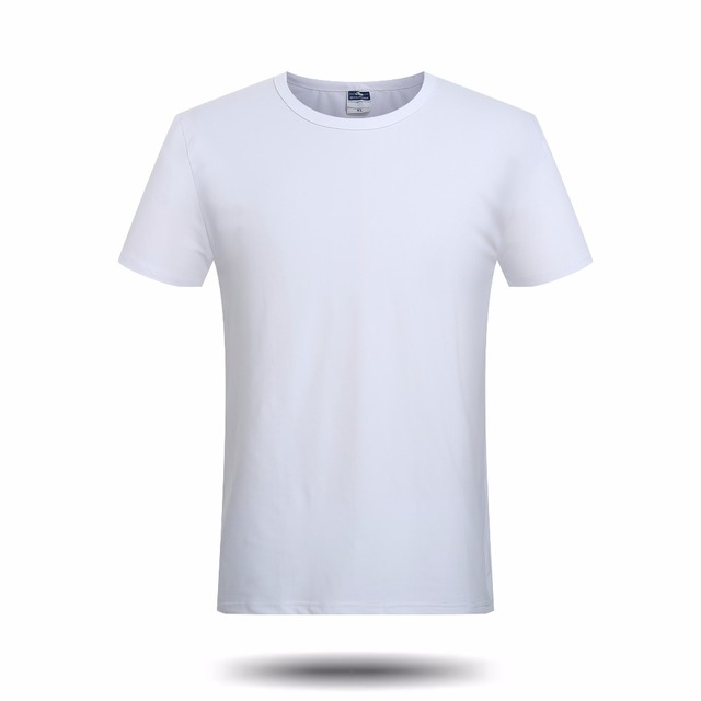 Brand new solid white blank t shirt men boys casual short for Who makes the best white t shirts