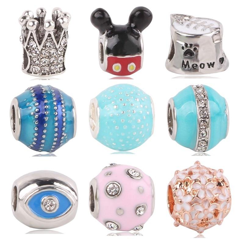 Moon Crescent Love Mot Beads Tibetan Silver Charms Bracelet Pendentif 9*30mm 5pcs