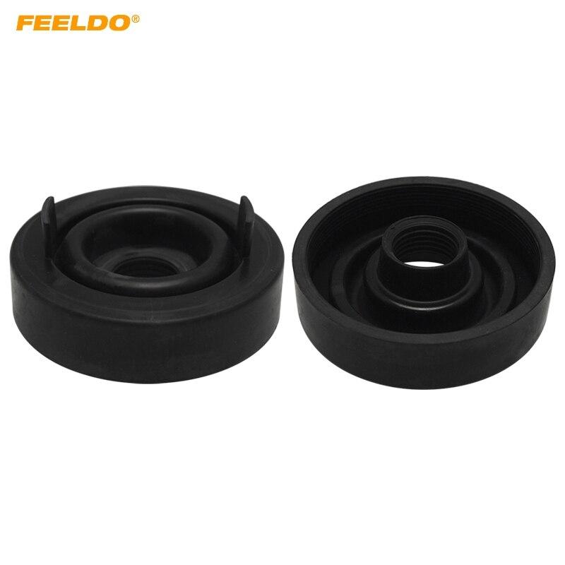 FEELDO 2Pcs Car LED Headlight Waterproof DustProof Cover Rubber 70mm-70mm Anti-Dust Sealing Headlamp Cover Cap #5603