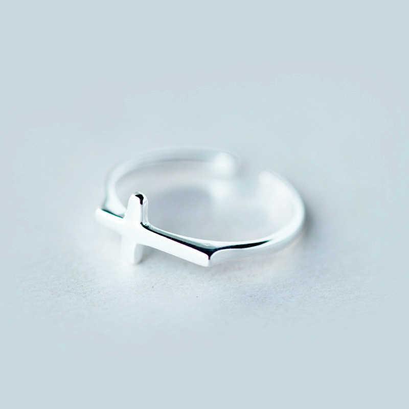 Plata de Ley 925, joyería con carácter, anillos cruzados Vintage para mujer, anillo de apertura de regalo, joyería de plata de ley 2017