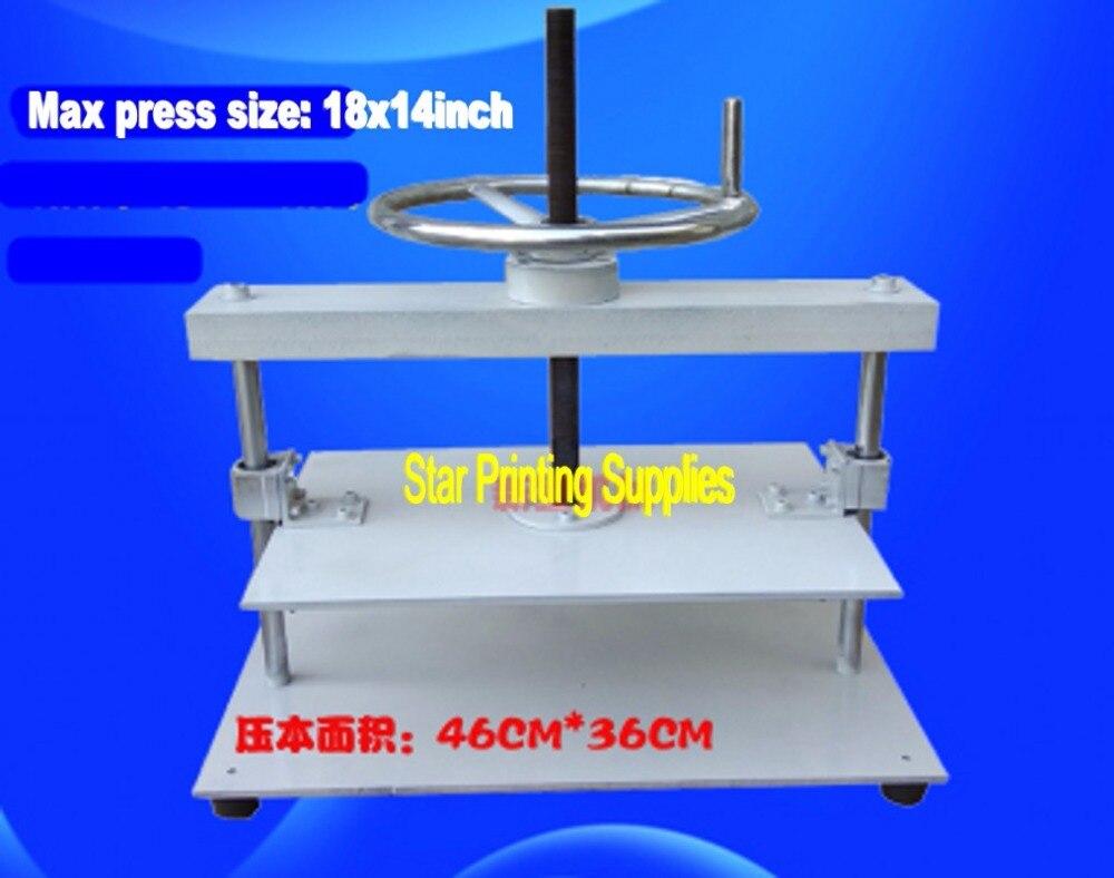 Broschüren Rechnungen Kontrollen Kenntnisreich 18x14 Zoll Manuelle Flache Papier Presse Maschine Für Foto Bücher Nipping Maschine