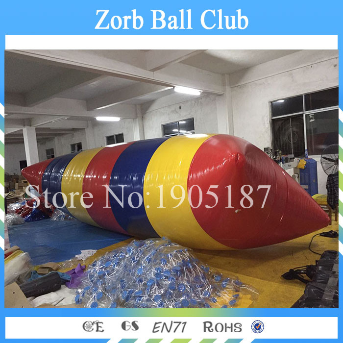 Free Shipping 9x3m Jump Blob Cheap Price For Outdoor Games High Quality Fun Water Games Inflatable Water Jumping Blob blob blob big yellow