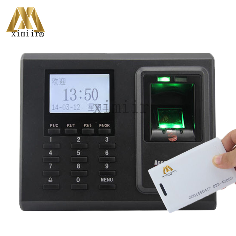 ZK F2 Biometric Fingerprint And 125KHZ RFID Card Access Control TCP/IP Fingerprint Access Control System With Time Attendance zk tf1700 ip65 waterproof biometric fingerprint access control system 125khz rfid card access controller with rj45 communication