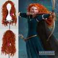 75cm/300g Long Curly Brave Merida Cosplay Hair Wigs For Women Lady With Free Cap Synthetic Wig Hair Heat Resistant Fiber