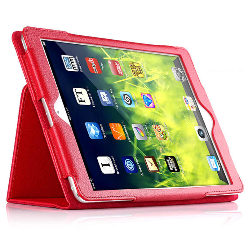 For Apple ipad 1 2 3 Case Auto Sleep /Wake Up Flip Litchi PU Leather Cover For New ipad 2 ipad 3 Smart Stand Holder Folio Case