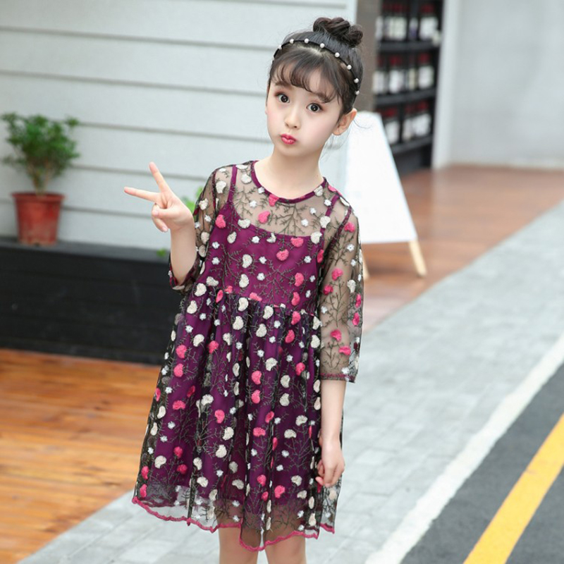 kids dresses for girls robe fille baby girl summer clothes party dress birthday beach floral dress 6 8 10 12 year big girls dress spring floral printed girls party princess dress long sleeve kids clothes for girls 6 8 10 12 year girl dress