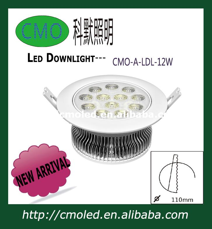 12w led downlights with 110mm hole size