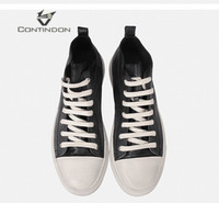 Contindon Simple European And American Sports Skateboard Shoes Leather Retro High Shoes Men Do Old Dirty