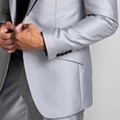 3979594134f7 Realizzati Vestito The Costume Misura Sposa As Pezzi Image Di Grigio  Argento Migliore Smoking Personalizzato Dello Made Convenzionale Partito  Uomo Da Del ...
