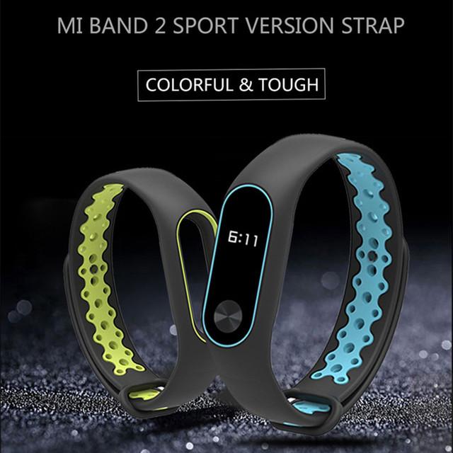 Mi Band 2 Strap wrist strap for Xiaomi mi band 2 sport Silicone Bracelet for xiaomi Mi band 2 smart watch bracelet accessories