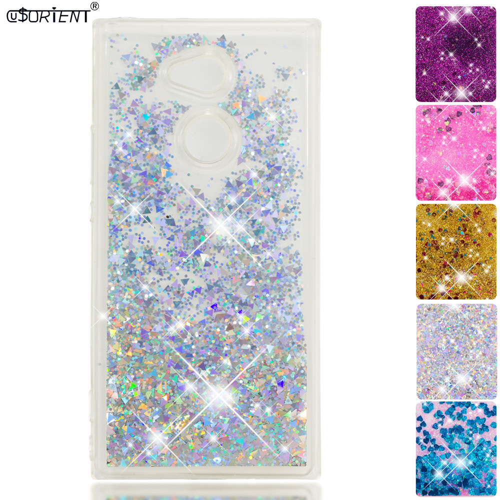 Cellphones & Telecommunications Phone Bags & Cases Glitter Case Sony Xperia Xa2 Ultra Liquid Quicksand Silicone Tpu Phone Cover H4213 H4223 H4233 H3223 H3213 Fitted Cases Funda Cool In Summer And Warm In Winter