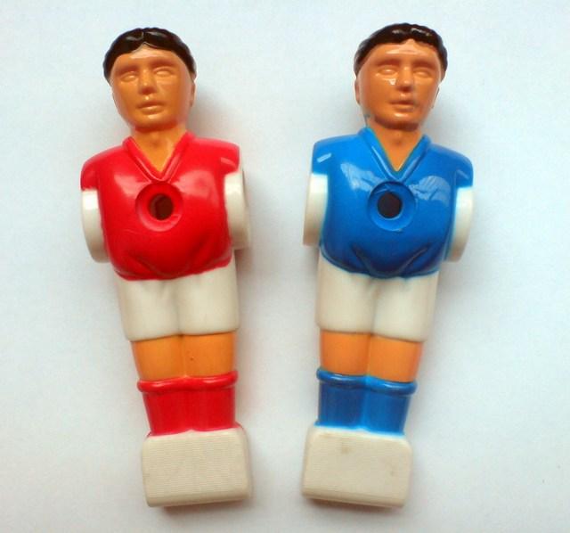 """จัดส่งฟรี22ชิ้น/ล็อตสีฟ้า/สีแดง5/8 """"ก้านF Oosballฟุตบอลตารางฟุตบอลคนเครื่องเล่นผู้ชายอะไหล่02"""