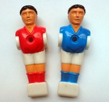 """Livraison gratuite 22 pièces/lot bleu/rouge 5/8 """"tige Foosball football Table football homme joueur hommes pièces de rechange 02"""