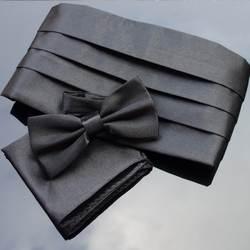 Ikepeibao свадебные мужские наборы с камербандом карман квадратный hanky Bowties смокинг Формальные Noeud Papillon Пояс кушак широкий ремни церемониальный