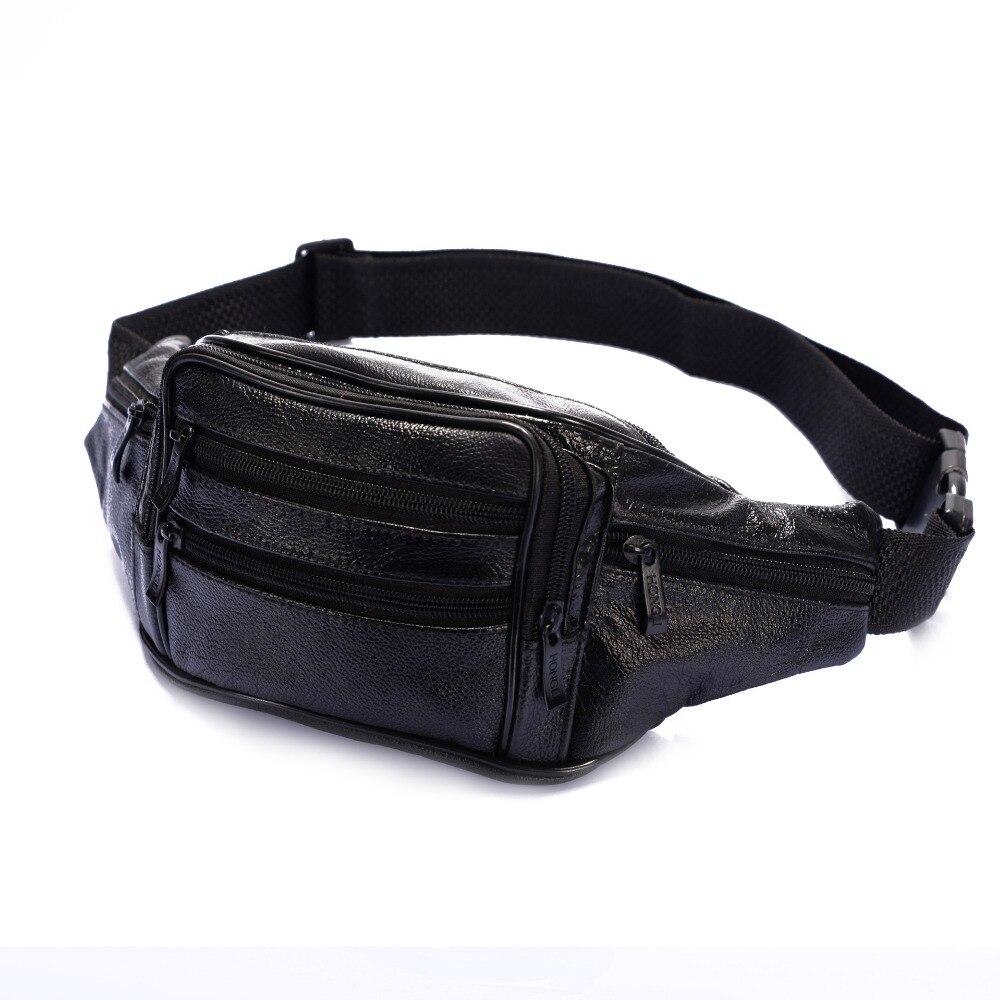 Men Genuine Leather Travel Hip Bum Belt Pouch Waist Purse Clutch Bag Travel Portable Bags bolsas couro pack