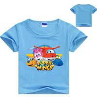 Z & Y 3-16Years Del Bambino Dei Ragazzi della Maglietta A Maniche Corte Costume Super Ali maglietta di Estate Dei Capretti Magliette e camicette Delle Ragazze della Maglietta Del Bambino Del Bambino casual Vestiti