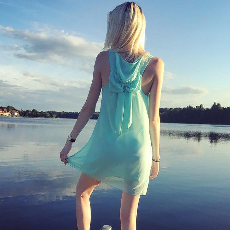 Summer dress 2018 summer style women casual sundress plus size women clothing beach dress chiffon women dress 3
