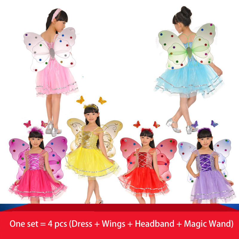Gyerekek Halloween jelmez pillangó tündér szoknya színes tánc - Jelmezek - Fénykép 1