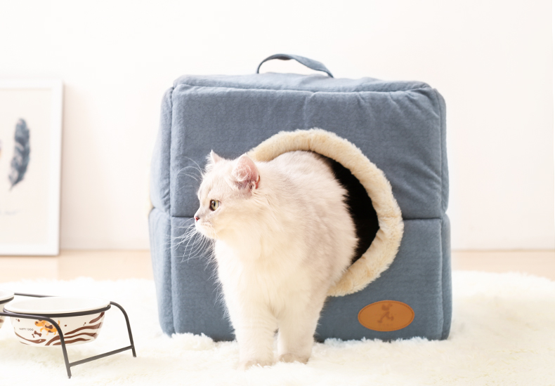 Hoopet New Washable Pets Cat House Cozy Cave Warm Soft Cave Bed Portable Hammock Sleeping Bed for Cat All Seasons (6)