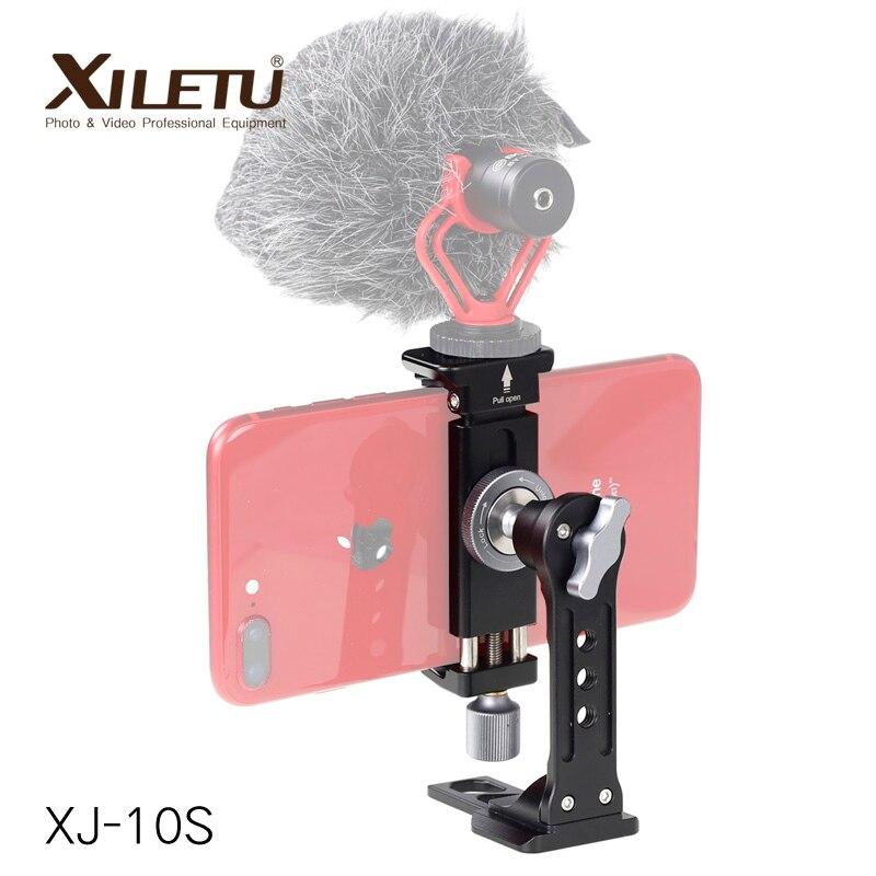 XJ-10S Mini téléphone trépied de table Smartphone montage clip de fixation support w tête de boule amovible pour iPhone X/8/7 Plus Huawei Xiaomi
