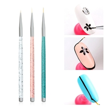 3Pcs Nail Drawing Brushes Point Pens Painted Flowers Engraved Lines Brush