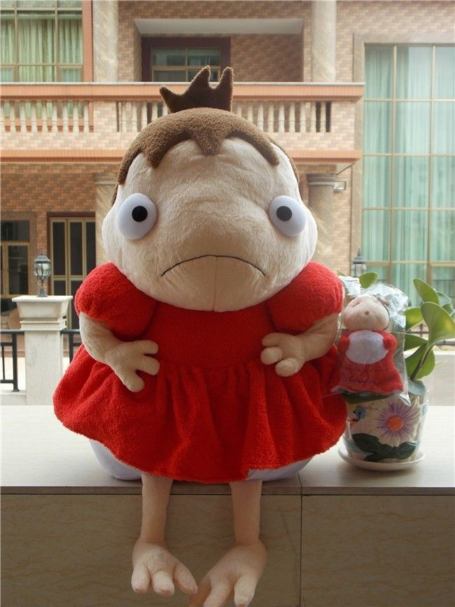 New Ponyo on Cliff PONYO Princess Soft large Plush Toy Doll STUDIO GHIBLI 17