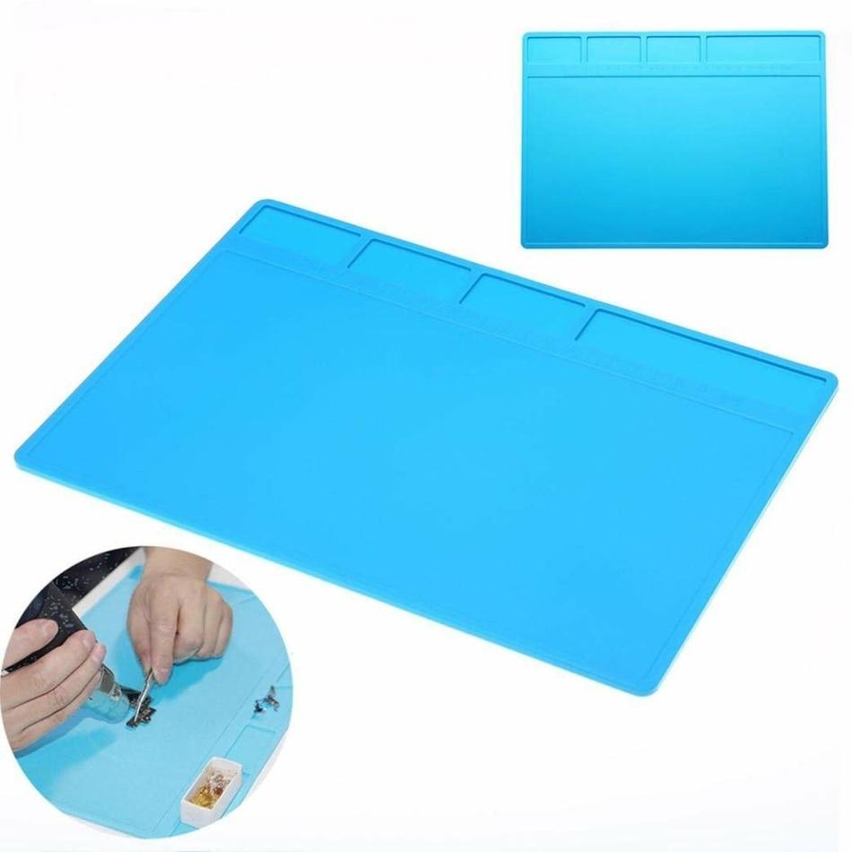 28x20cm Heat Insulation Pad Silicone Mat Maintenance Platform For BGA Phone Repair Anti-static Pad Soldering Station Desk Mat