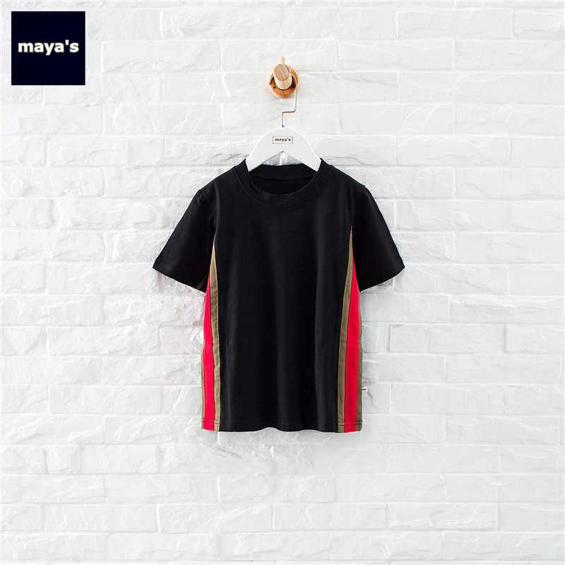 Mayas Camouflage Printed Half Sleeves Summer Mini Dresses Black Cotton Pattern Straight Autumn Dress Toddler Basic Wear 81186