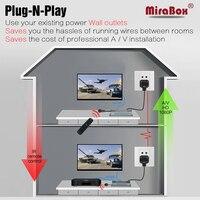 Mirabox 300 м Мощность линии HDMI Extender ИК H.264 кодирования протокол высокое качество передачи изображения Full HD 1080 P HDMI Extender ИК
