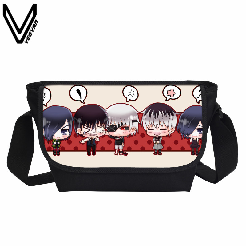 VEEVANV 2017 Cute Cartoon Anime Tokyo Ghoul Crossbody Bags Cool Men 's School Bags Teenage Girls Japanese Anime Bookbags
