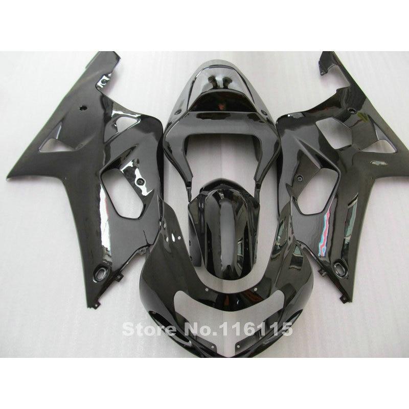ABS motorcycle fairing kit fit for SUZUKI GSXR600 GSXR750 K1 2001-2003 all glossy black fairings GSXR 600 750 01 02 03 QB18 пена монтажная mastertex all season 750 pro всесезонная