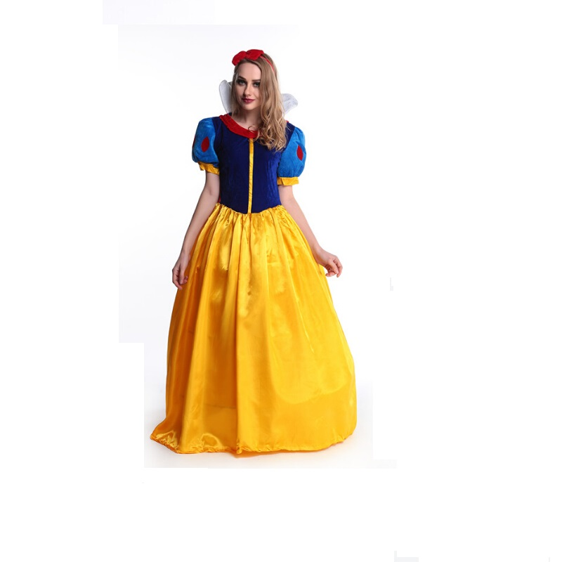 Contemplative S-xl Women Fantasia Princess Snow White Cosplay Costume Carnival Party Dress Women Adult Snow White Halloween Costume Strong Resistance To Heat And Hard Wearing