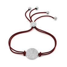 WEIMANJINGDIAN Rope Chain Cubic Zirconia Pave Round Bracelets with Adjustable Slide Lock for Men or Women in Various Colors