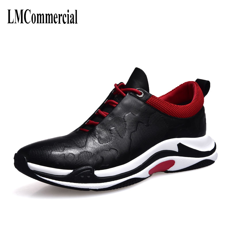 spring and autumn 2018 new men's real leather casual shoes British retro all-match cowhide breathable sneaker fashion men shoes 2017 fashion red black white men new fashion casual flat sneaker shoes leather breathable men lightweight comfortable ee 20