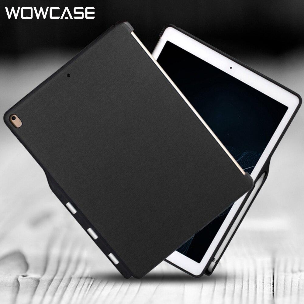Lápis Casos Suporte Para iPad WOWCASE Pro 10.5 Luxo Casual Couro PU Silicon Back Cover Protector Para Apple iPad Air 3 caso