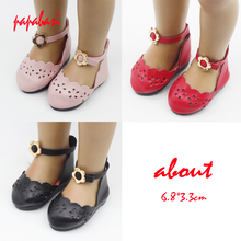 Papabasi Doll Accessories Fashion PU leather doll shoes for 18 inch 45cm American Girls Madame Alexander