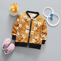 Good quality 2017 Spring Autumn Baby Boys Coats Inafnt Cardigan Coats Casual Fashion Flowers Kids Outerwear Children Jackets