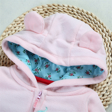 Autumn & Winter Newborn Infant Baby Clothes Fleece Jumpsuit Boys Romper Hooded Jumpsuit Bear Onesie Baby Bebe Menino Macacao