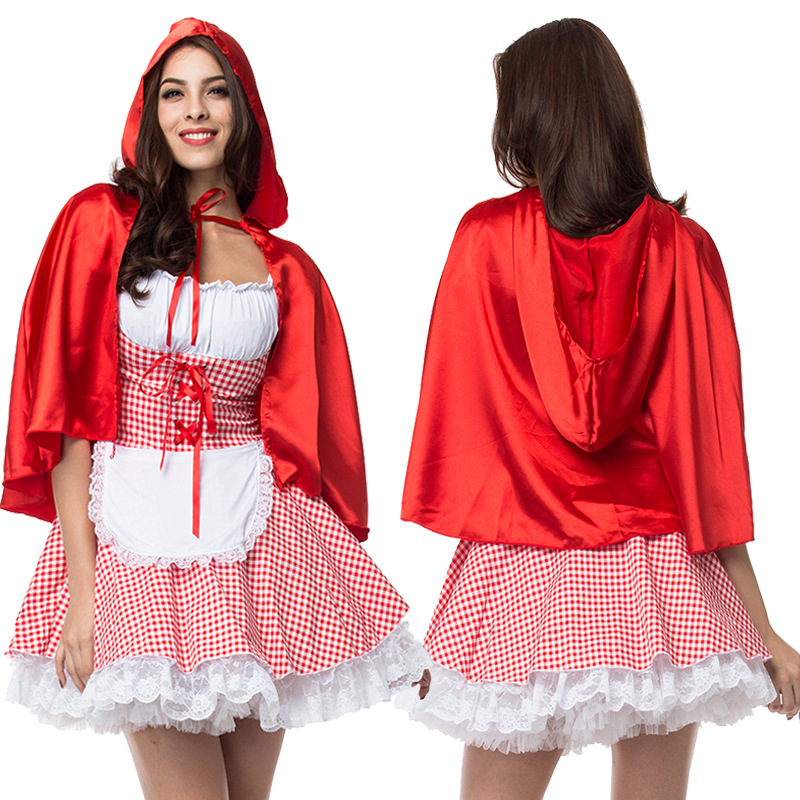 Fashion Sexy Dress Plus Size S-6XL Costume Adult Little Red Riding Hood Costume Halloween Cosplay Costumes For Women