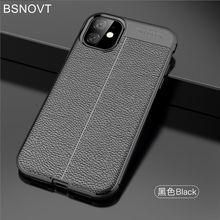 For Cover iPhone 11 Case Soft Silicone Shockproof PU Leather Anti-knock 2019 6.1 BSNOVT