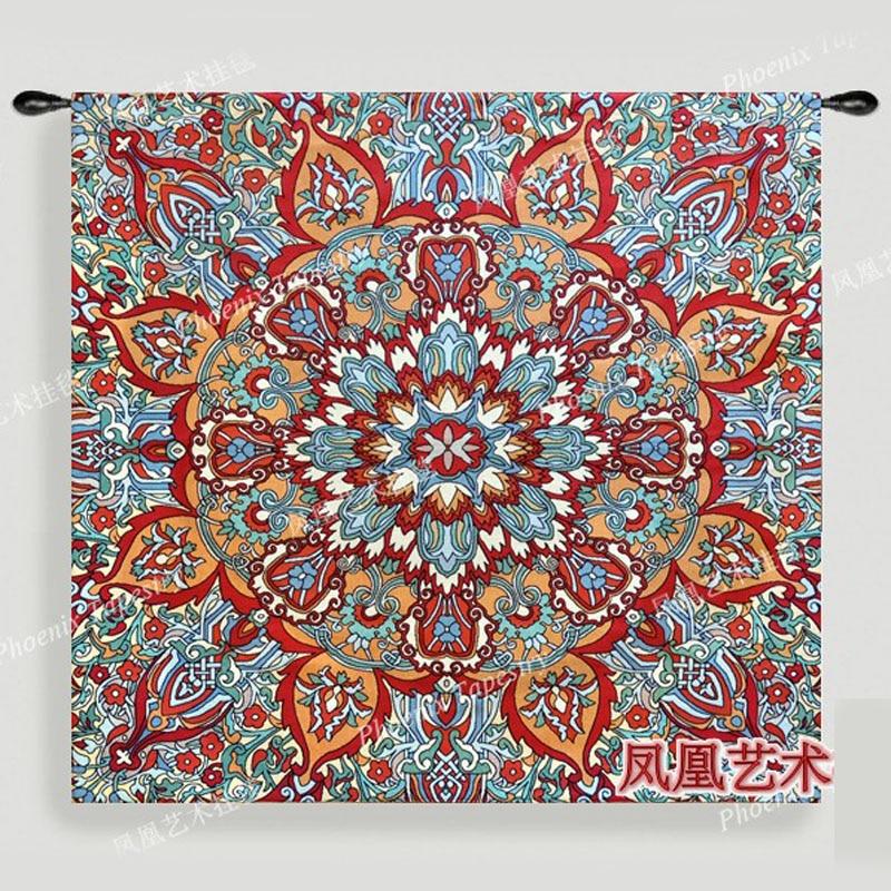 Indian rangoli art Sunrise soft wall hanging tapestry Cotton 134 139cm deco Tapiz Gobelin Tapisserie Arazzo