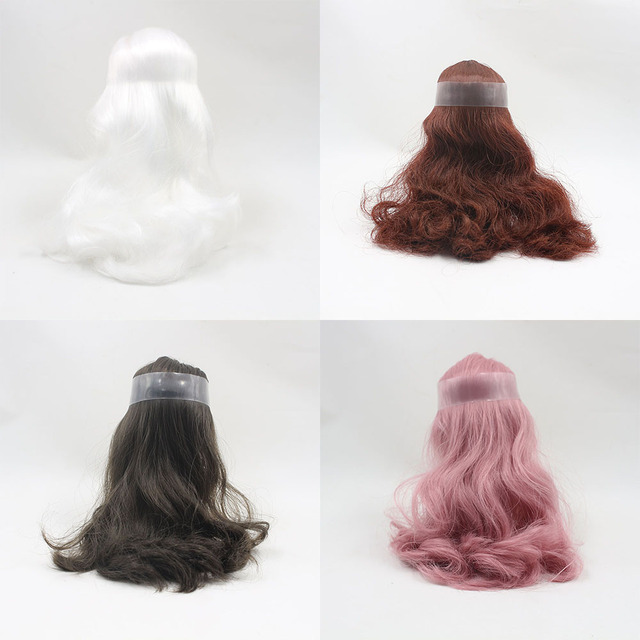 Middle Blyth Accessories Hair Scalp Wigs including the Endocon blyth doll All Kinds Of Colors With/out Bangs Specially For DIY