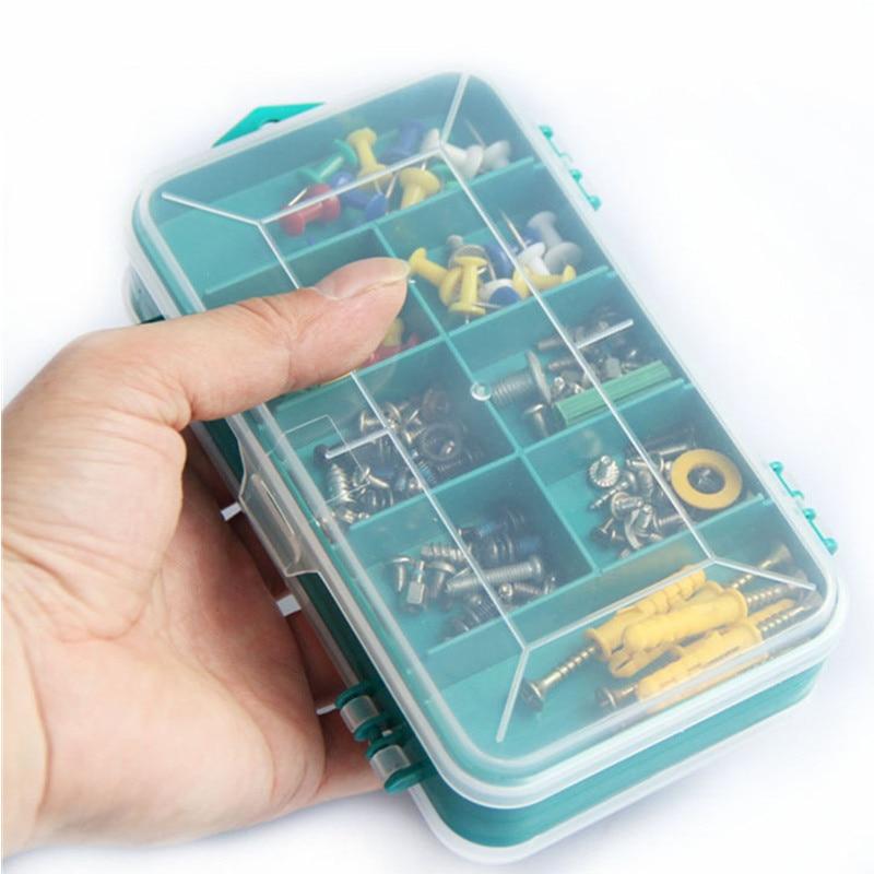 Transparent Werkzeugkasten Doppel Einseitig Kunststoff ToolBox Storage Tool Multifunktions werkzeugkoffer