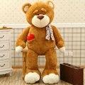 80 см kawaii большой размер бурый медведь плюшевые игрушки сон подушка мягкая подушка 2016 Новый стиль медведь ткань кукла подарок на день рождения дети