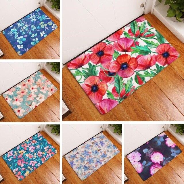 Коврик замши цветочный цветок печатных коврик домой украшения открытый кухня коврик ванной carpet коврик для ванной туалет коврик 40 х 60 см