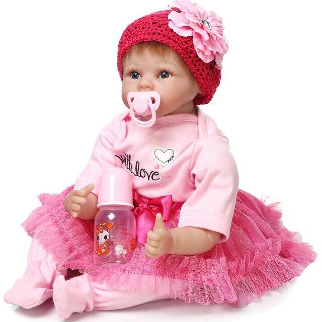 22 Inch Reborn Baby Doll Soft Vinyl Like Silicone Girls Christmas Gift Toys Birthday Gifts